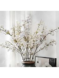 1 Větev Polyester Rostliny Květina na stůl Umělé květiny
