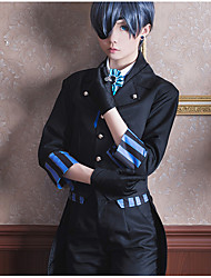 cheap -Inspired by Black Butler Ciel Phantomhive Anime Cosplay Costumes Cosplay Suits Other Cravat Coat Vest Blouse Pants Gloves Socks Eye Mask