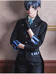 economico -Ispirato da Il maggiordomo diabilico Ciel Phantomhive Anime Costumi Cosplay Abiti Cosplay Altro Foulard Cappotto Canottiera Camicia