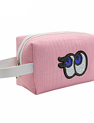 cheap -PU Character Cosmetic Bag Zipper for Casual All Season Pink Dark Red