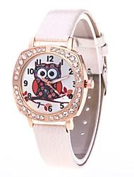 cheap -Women's Quartz Simulated Diamond Watch Wrist Watch Chinese N / A PU Band Luxury Casual Cool Black White Blue Red Pink Khaki