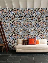 cheap -Stone Home Decoration Contemporary Wall Covering, PVC Material Self adhesive Wallpaper, Room Wallcovering
