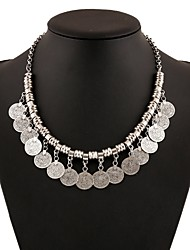 cheap -Necklace Sweet Lolita Dress Necklace Vintage Inspired Women's Girls' Silver Lolita Accessories Art Deco Necklace Chrome