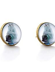 abordables -Femme 2pcs Boucles d'oreille goujon - Animaux / Large Bronze Forme de Cercle Des boucles d'oreilles Pour Vacances / Ecole