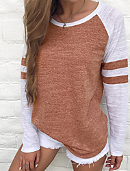 billige -Dame - Ensfarvet Bomuld Ferie T-shirt