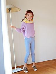 economico -Pantaloni Da ragazza Poliestere Tinta unita Primavera Autunno Romantico Attivo Bianco Nero Rosa Azzurro Royal Blue