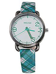 Недорогие -Жен. Модные часы Наручные часы Кварцевый Стеганная ПУ кожа Красный / Оранжевый / Зеленый 30 m Защита от влаги Аналоговый На каждый день Цветной минималист - Красный Зеленый Розовый