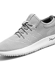 abordables -Homme Chaussures Gomme Printemps / Automne Confort Chaussures d'Athlétisme Marche Bottine / Demi Botte Noir / Gris / Rouge