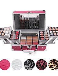 cheap -1 Concealer/Contour Blush Highlighters/Bronzers Pressed Powder+Concealer Shadow Eyeliner Eyebrow+Lipstick+Mirror Makeup Cotton Stick