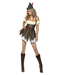 cheap -Christmas Dress Female Christmas Festival / Holiday Halloween Costumes Green Christmas