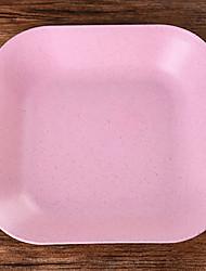 abordables -Platine La paille de blé coutellerie Nourrir Vaisselle  -  Haute qualité 18*18*1 0.076