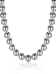 Недорогие -Жен. Гипоаллергенный Серебрянное покрытие Ожерелья-цепочки - Гипоаллергенный Мода Милая Геометрической формы нерегулярный Серебряный