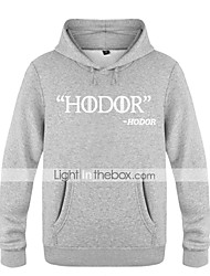cheap -Hodor Ugly Christmas Sweater / Sweatshirt Men's Festival / Holiday Halloween Costumes White Black Red Letter Casual