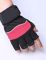 Недорогие -Спортивные перчатки Перчатки для велосипедистов Пригодно для носки Дышащий Без пальцев Ткань для подбивки Волокно Шоссейные велосипеды На