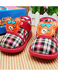 Baby Shoes Fabric Winter Fall Comfort First Walkers Boots Walking Shoes Booties/Ankle Boots Magic Tape for Casual Red Coffee Dark Blue
