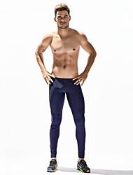 preiswerte -Herrn Enge Laufhosen Dehnbar Hosen/Regenhose Strumpfhosen/Lange Radhose Übung & Fitness Laufen Nylon Schwarz Dunkelblau M L XL