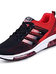 Masculino sapatos Borracha Primavera Outono Conforto Tênis Caminhada Botas Curtas / Ankle Cadarço de Borracha para Preto Preto/Vermelho