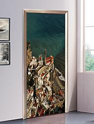 Недорогие -Море Пейзаж Наклейки 3D наклейки Декоративные наклейки на стены Дверные наклейки, Бумага Винил Украшение дома Наклейка на стену Стена