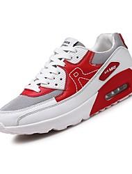 abordables -Homme Chaussures Tulle Printemps Automne Confort Chaussures d'Athlétisme Course à Pied pour Athlétique Décontracté Rouge Noir/blanc
