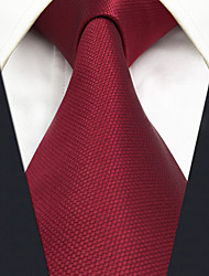 cheap -Men's Silk Necktie,Vintage Cute Party Work Casual Solid All Seasons Red