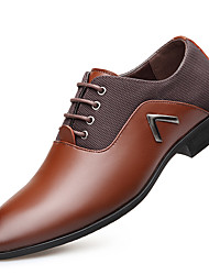 cheap -Men's Shoes Oxford Spring Fall Comfort Oxfords for Office & Career Party & Evening Dark Brown Light Brown Black