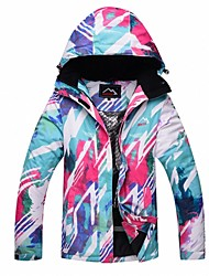 cheap -Women's Ski Jacket Warm Waterproof Windproof Skiing Camping / Hiking Ski / Snowboard Back Country Polyester
