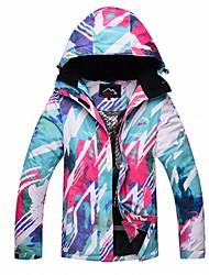 Dámské Bunda lyžařská Teplý Voděodolný Větruvzdorné Lyže Odolné vůči větru Outdoor a turistika Back Country Lyže Polyester