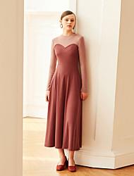cheap -MASKED QUEEN Women's Vintage Swing Dress - Color Block High Waist