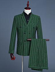 cheap -Men's Suits - Solid Colored Striped Notch Lapel