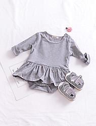 abordables -bébé Fille simple Couleur Pleine Manches Courtes Coton / Lin / Fibre de bambou Le maillot de corps / Bébé