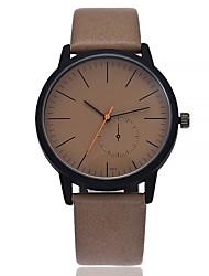 Недорогие -Жен. Модные часы Наручные часы Китайский Кварцевый Крупный циферблат Кожа Группа На каждый день минималист Черный Коричневый Серый