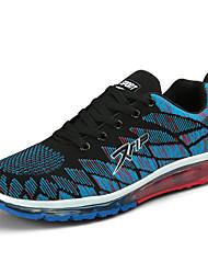 baratos -Homens sapatos Malha Respirável Primavera Outono Conforto Tênis Corrida para Atlético Preto Arco-íris Azul