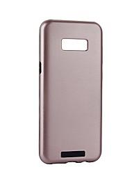 Недорогие -Кейс для Назначение SSamsung Galaxy S8 Plus S8 лакировка Кейс на заднюю панель Сплошной цвет Твердый ПК для S8 Plus S8