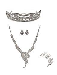 baratos -Mulheres Gema Imitações de Diamante Raposa / Borboleta Conjunto de jóias Jóias para o Corpo / 1 Colar / 1 Bracelete - Fashion / Europeu