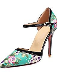 preiswerte -Schuhe Kunstleder Frühling Sommer Neuheit Pumps High Heels Stöckelabsatz für Hochzeit Party & Festivität Schwarz Blau Mandelfarben