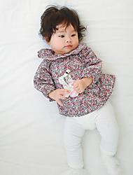 preiswerte -Baby Mädchen Bluse Alltag Blumen/Pflanzen Langarm Rock/Hosen Blau Rote