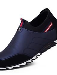 baratos -Homens sapatos Camurça / Courino / Couro Ecológico Primavera Conforto / Solados com Luzes Tênis Corrida Preto / Azul