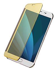 Недорогие -Кейс для Назначение SSamsung Galaxy J7 (2017) J5 (2017) Покрытие Зеркальная поверхность Флип Сплошной цвет Твердый для