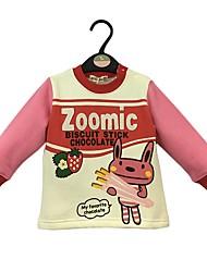 cheap -Girls' Cartoon Hoodie & Sweatshirt, Cotton Winter Spring Long Sleeves Cute Cartoon Blushing Pink