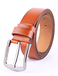 cheap -Men's Work Leather Waist Belt - Solid Colored