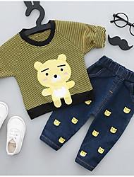 cheap -Children's Animal Print Clothing Set, Polyester Spring Green Blushing Pink Yellow
