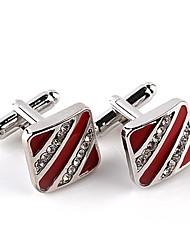 Недорогие -Геометрической формы Черный / Красный Запонки Искусственный бриллиант / Сплав Формальная / Классика / Мода Муж. Бижутерия Назначение