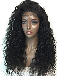 cheap -Remy Human Hair Lace Front Wig Brazilian Hair Curly Loose Wave With Baby Hair 130% 150% 180% Density Unprocessed African American Wig