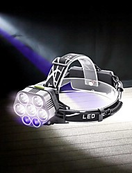 cheap -U'King Chandeliers Headlamps LED 6000 lm 6 Mode LED Portable Durable Camping/Hiking/Caving Everyday Use Cycling/Bike Hunting Fishing