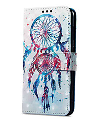 cheap -Case For Huawei P9 lite mini Card Holder Wallet with Stand Flip Magnetic Pattern Full Body Cases Dream Catcher Hard PU Leather for P9