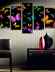economico -Stampa trasferimenti su tela Modern, Cinque Pannelli Tela Verticale Stampa Decorazioni da parete Decorazioni per la casa