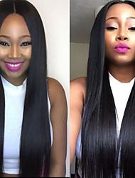 abordables -Dentelle frontale Perruque Cheveux Brésiliens 130% Densité Non traité Perruque afro-américaine Ligne de Cheveux Naturelle Long Femme