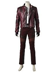 economico -Costumi da supereroi Cosplay Costumi Cosplay Costume Cosplay da film Rosso Cappotto Top Pantaloni Guanti Cintura Altri accessori Collane