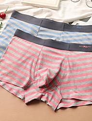 cheap -Men's Micro-elastic Striped Boxers Underwear Medium,Cotton Bamboo Fiber 2pcs Blushing Pink