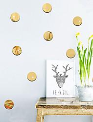 Недорогие -Геометрия Наклейки Зеркальные стикеры Декоративные наклейки на стены, Винил Украшение дома Наклейка на стену Стена